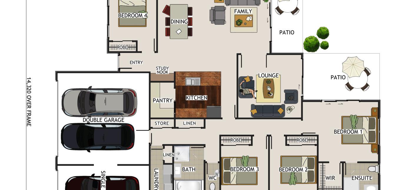 Bayston Coloured Floor Plan