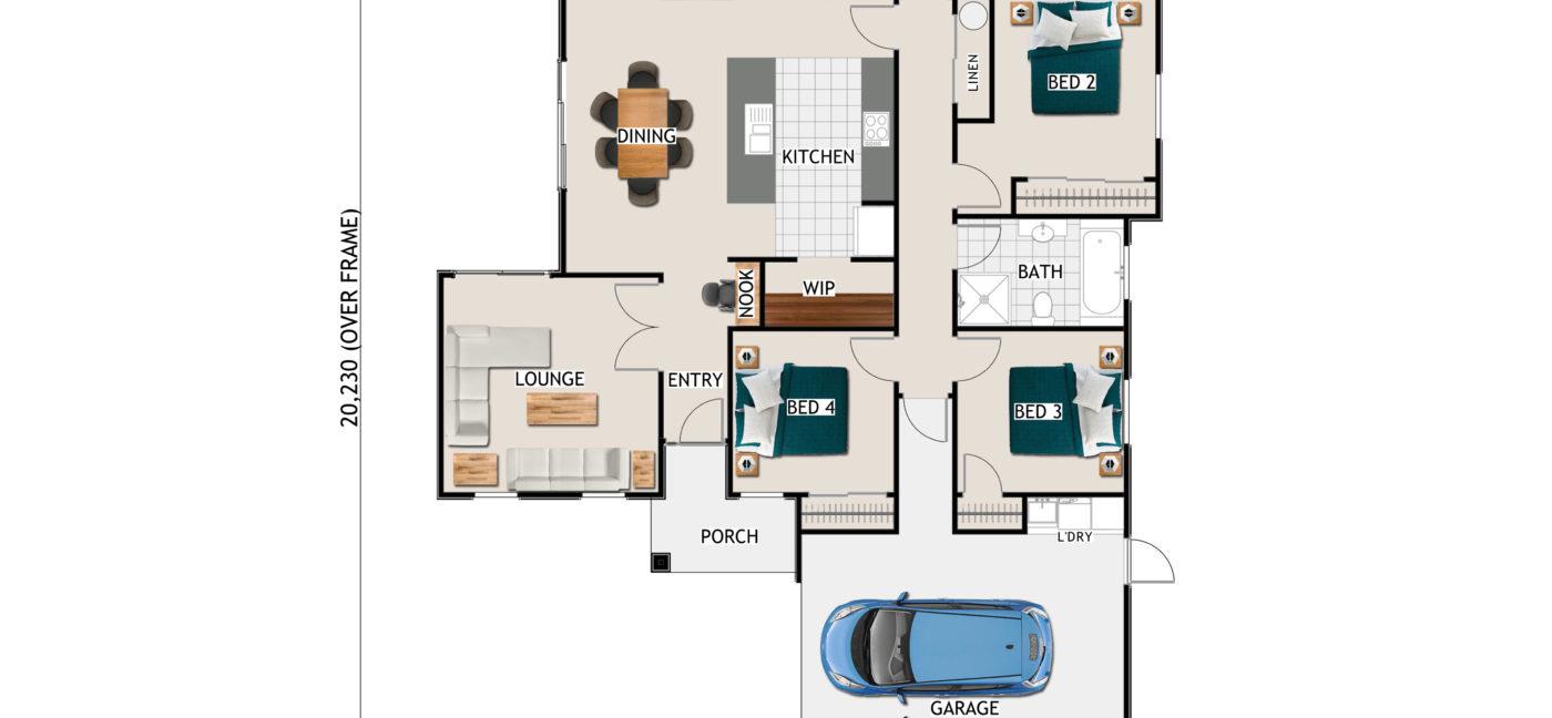 Eddie Plans Worcester Coloured Floor Plan