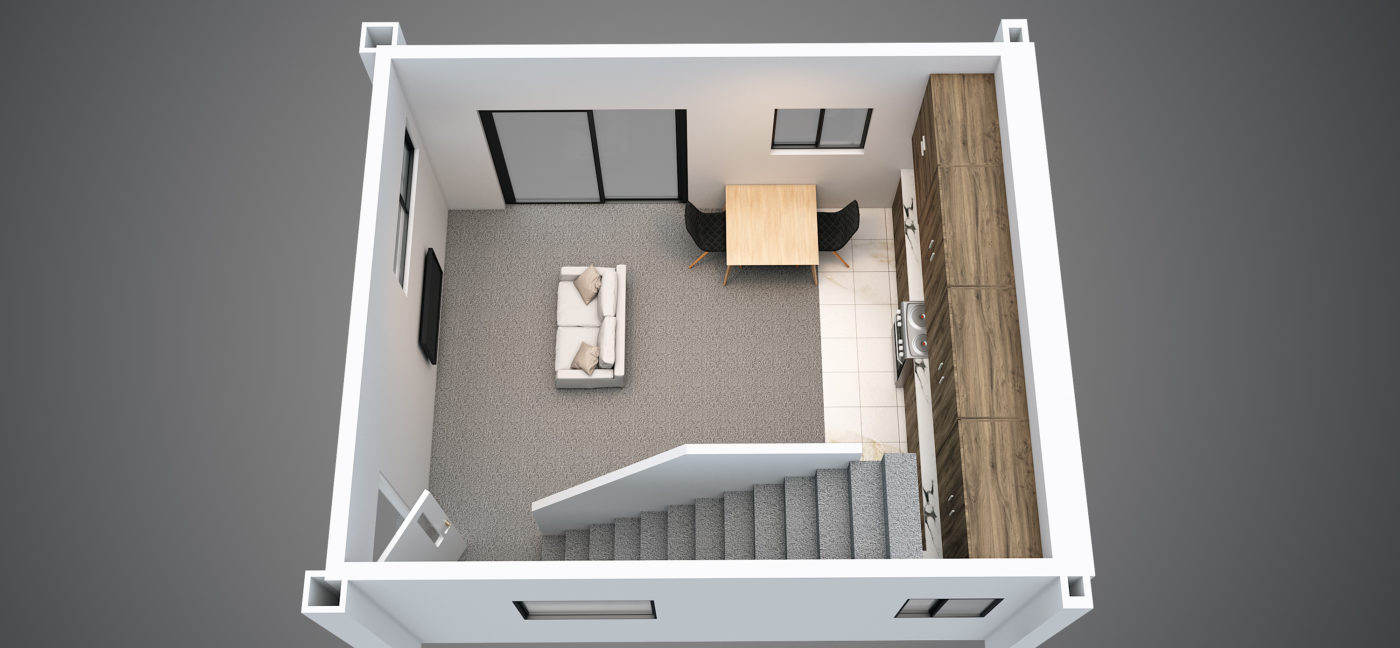 Isometric Ground Floor Final 221 Armagh Street