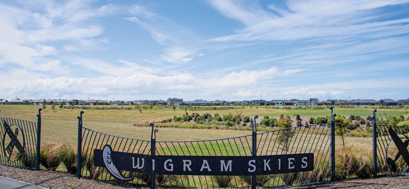 Wigram Skies Entrance